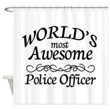 Police Officer Shower Curtain