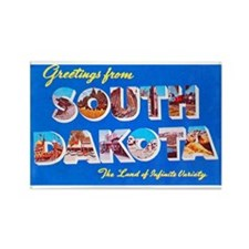 South Dakota State Greetings Rectangle Magnet