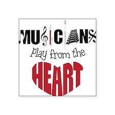 """Musicians Square Sticker 3"""" x 3"""""""