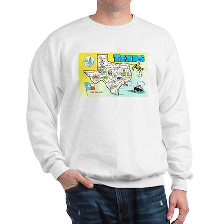Texas Map Greetings Sweatshirt