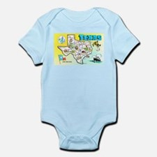 Texas Map Greetings Infant Bodysuit