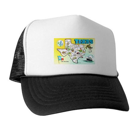 Texas Map Greetings Trucker Hat