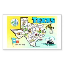 Texas Map Greetings Decal