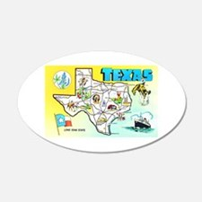 Texas Map Greetings Wall Decal