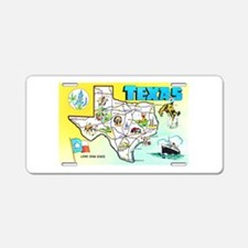 Texas Map Greetings Aluminum License Plate