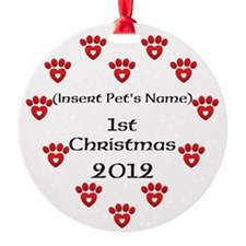 Personalized Pet's First Christmas Ornament