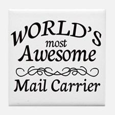 Mail Carrier Tile Coaster