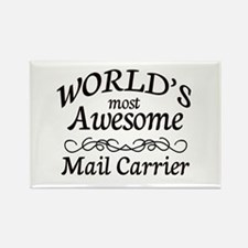 Mail Carrier Rectangle Magnet