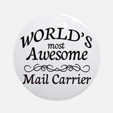 Mail Carrier Ornament (Round)