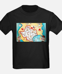 Texas Map Greetings T