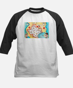 Texas Map Greetings Tee
