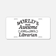Librarian Aluminum License Plate