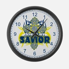 Jesus Is My Savior Large Wall Clock
