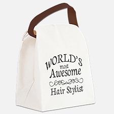 Hair Stylist Canvas Lunch Bag