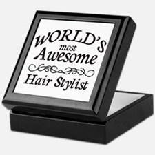 Hair Stylist Keepsake Box