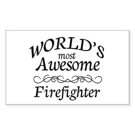 Firefighter Sticker (Rectangle)