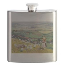 Geese on the Hilltop Flask