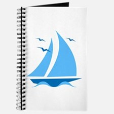 Blue Sailboat Journal