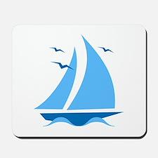 Blue Sailboat Mousepad