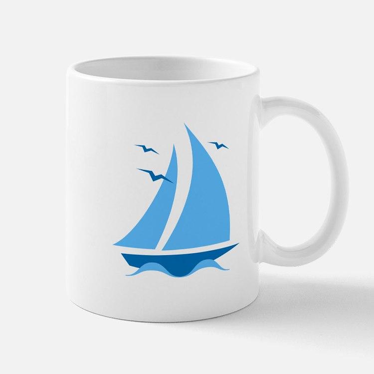 Blue Sailboat Mug