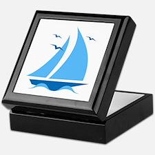 Blue Sailboat Keepsake Box