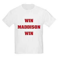 WIN MADDISON WIN Kids T-Shirt