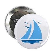 "Blue Sailboat 2.25"" Button"