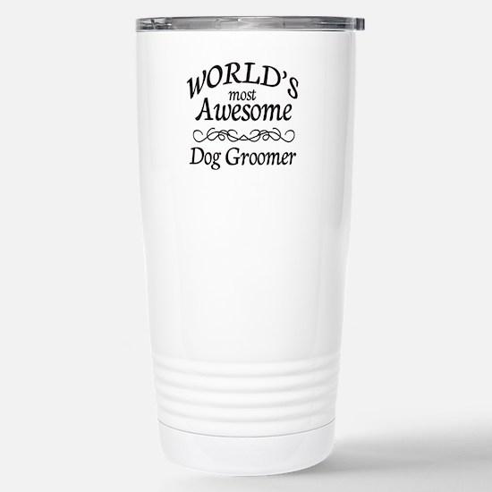Dog Groomer Stainless Steel Travel Mug
