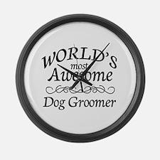 Dog Groomer Large Wall Clock