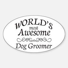 Dog Groomer Sticker (Oval)