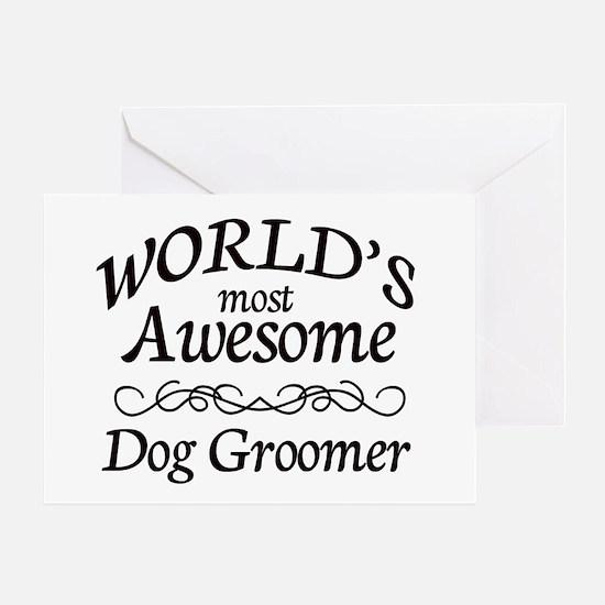 Dog Groomer Greeting Card