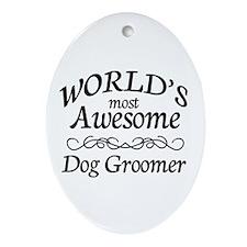 Dog Groomer Ornament (Oval)