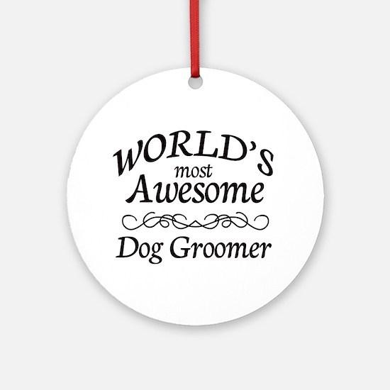 Dog Groomer Ornament (Round)