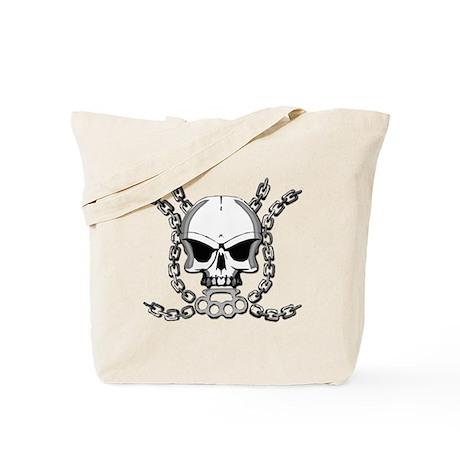 Brass knuckle skull 6 Tote Bag