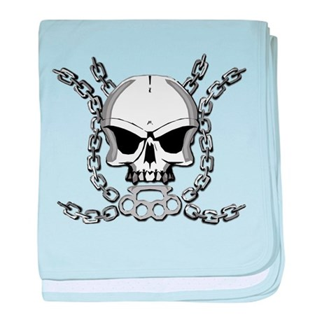 Brass knuckle skull 6 baby blanket