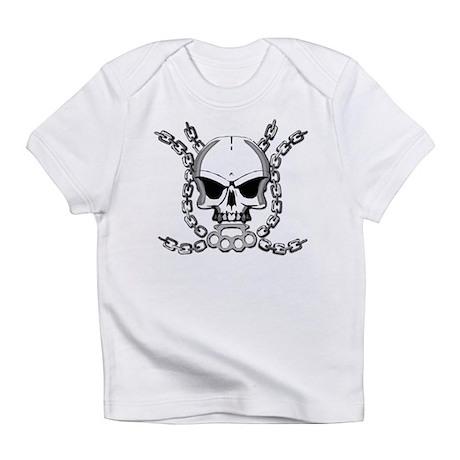 Brass knuckle skull 6 Infant T-Shirt