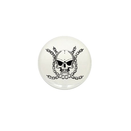 Brass knuckle skull 6 Mini Button (10 pack)