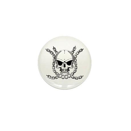 Brass knuckle skull 6 Mini Button (100 pack)
