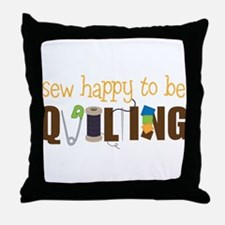 Sew Happy Throw Pillow