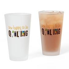 Sew Happy Drinking Glass
