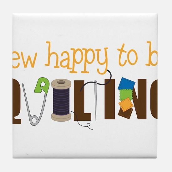 Sew Happy Tile Coaster