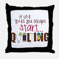 Start Quilting Throw Pillow