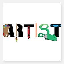 "Artist Square Car Magnet 3"" x 3"""