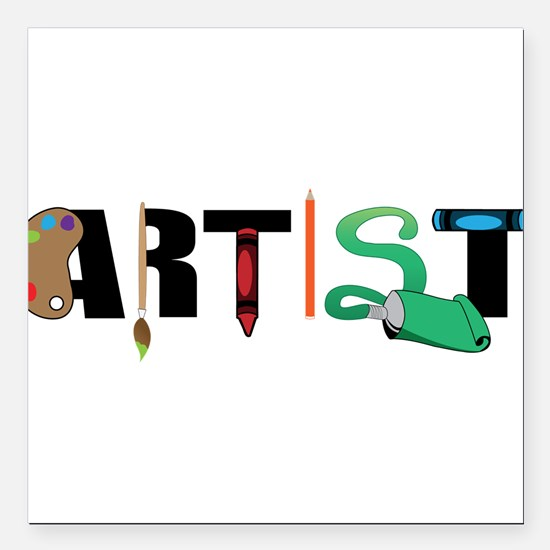 "Artist Square Car Magnet 3"" x 3"""