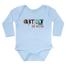 Artist At Work Long Sleeve Infant Bodysuit