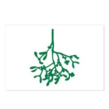 Green Mistletoe Postcards (Package of 8)