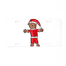 Christmas Groundhog Aluminum License Plate