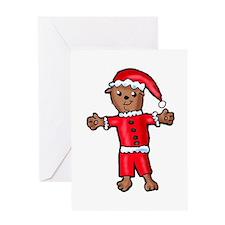 Christmas Groundhog Greeting Card
