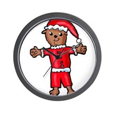 Christmas Groundhog Wall Clock