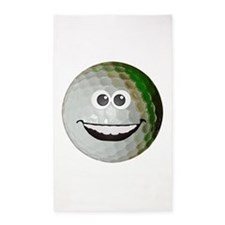 Happy golf ball 3'x5' Area Rug